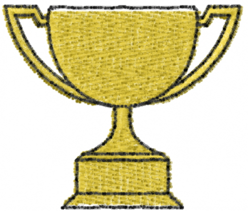 Free Trophy Cup Embroidery Design