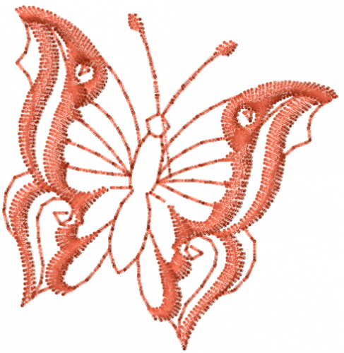 Free Butterfly Outline Embroidery Design | AnnTheGran