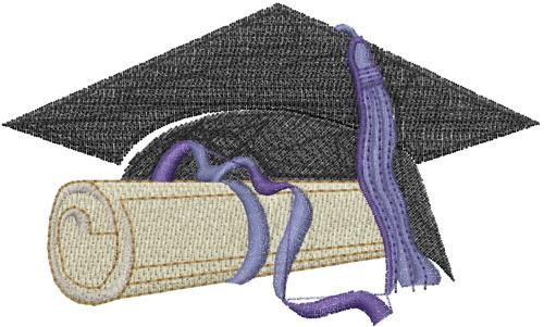 Free graduation cap embroidery design annthegran