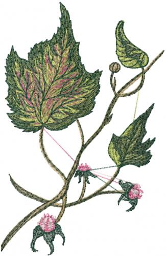 Free magnolia leaves embroidery design annthegran