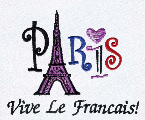 Paris France Embroidery Design Annthegran