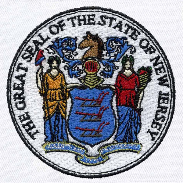 New jersey state seal embroidery design annthegran