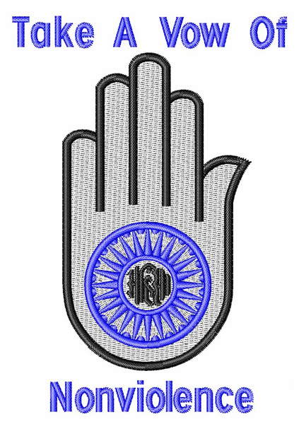 Jainism Religious Symbol Embroidery Design Annthegran