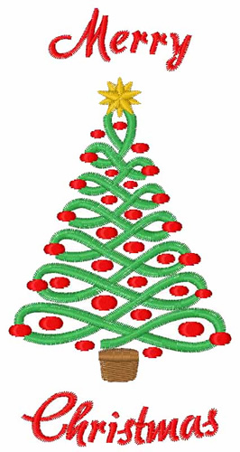 merry christmas tree embroidery design annthegran - Christmas Tree Designs