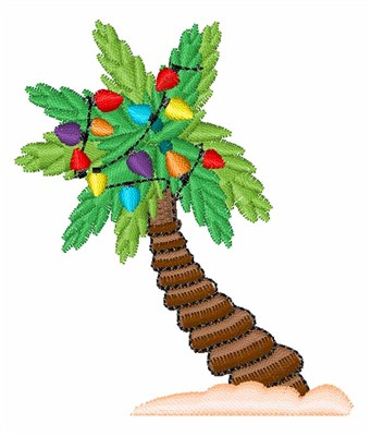 Christmas Palm Tree Embroidery Design | AnnTheGran