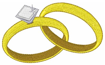 Diamond Wedding Rings Embroidery Design Annthegran