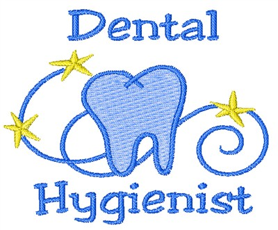 Dental Hygienist Embroidery Design