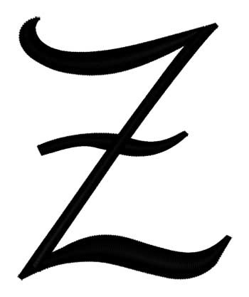Letter Z Pictures.Script Letter Z Embroidery Design
