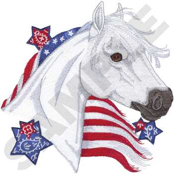 Patriotic Horse Embroidery Design Annthegran