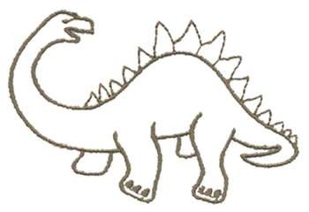 Dinosaur Outline Embroidery Design Annthegran