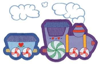 Train Applique Embroidery Design Annthegran