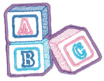 Baby Blocks Outline Embroidery Design | AnnTheGran