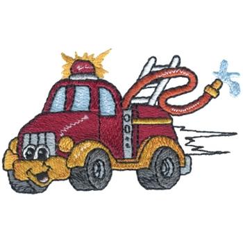 Fire Truck Embroidery Design Annthegran