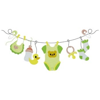 Baby Clothes Embroidery Designs | Baby Clothes Line Embroidery Design Annthegran