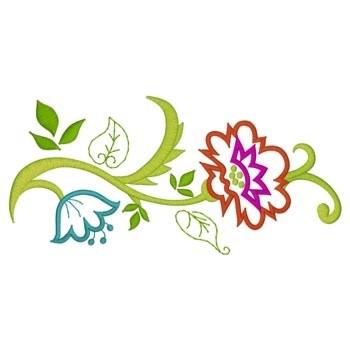 Floral Vine Border Embroidery Design Annthegran