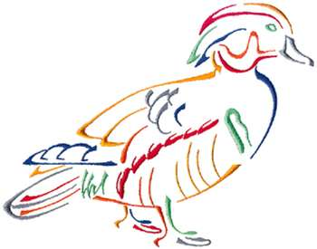 Duck Outline Embroidery Design  AnnTheGran