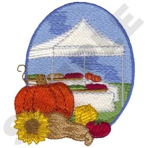 Vegetable Stand Scene Embroidery Design Annthegran