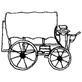 Chuckwagon outline embroidery design annthegran for Wagon coloring pages