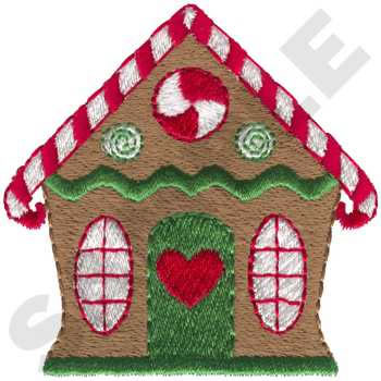 Gingerbread House Embroidery Design  AnnTheGran