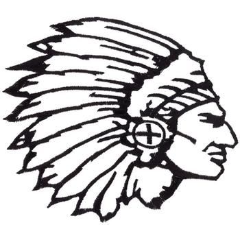 indian chief head outline embroidery design annthegran Indian Chief Clip Art Black and White indian chief clip art black and white