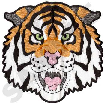Tiger Head Embroidery Design | AnnTheGran
