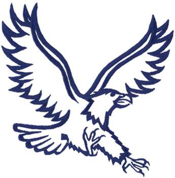 Eagle Outline Embroidery Design