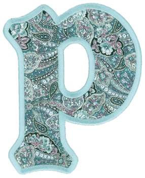 applique letter p embroidery design annthegran