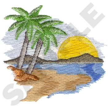 Beach scene embroidery design annthegran for Beach house embroidery design