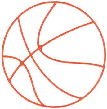 Embroidery Design Basketball Outline