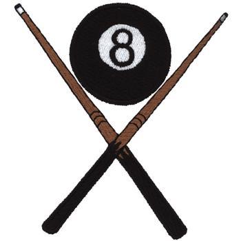 8 ball cue sticks embroidery design annthegran for Pool design software free mac