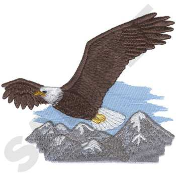 Soaring Bald Eagle Embroidery Design | AnnTheGran