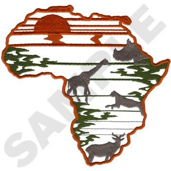 Africa Silhouette Embroidery Design Annthegran