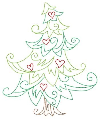 whimsical christmas tree embroidery design annthegran