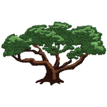 tree machine embroidery design