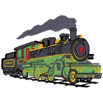 Steam Engine Embroidery Design Annthegran
