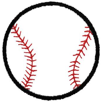 Baseball Outline Embroidery Design - Outlines Embroidery Designs ...