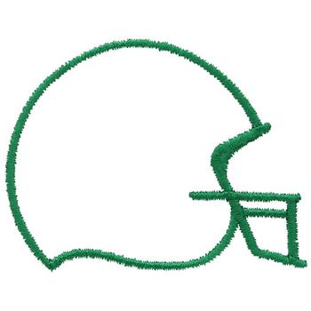 football helmet outline embroidery design annthegran - Football Outline