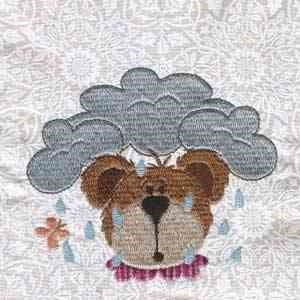 addressing a letter rainy day bears embroidery design annthegran 20392