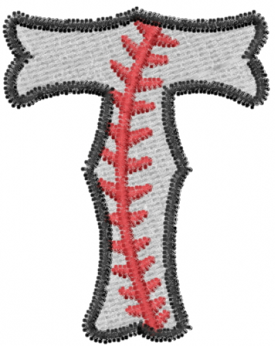 Baseball letter t embroidery design annthegran for Letter t decoration
