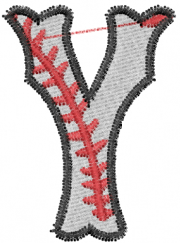 Baseball letter y embroidery design annthegran altavistaventures Image collections