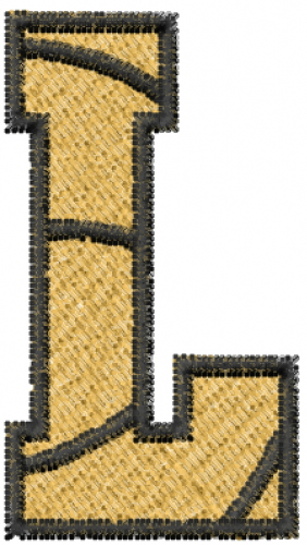 Basketball Letter L Embroidery Design