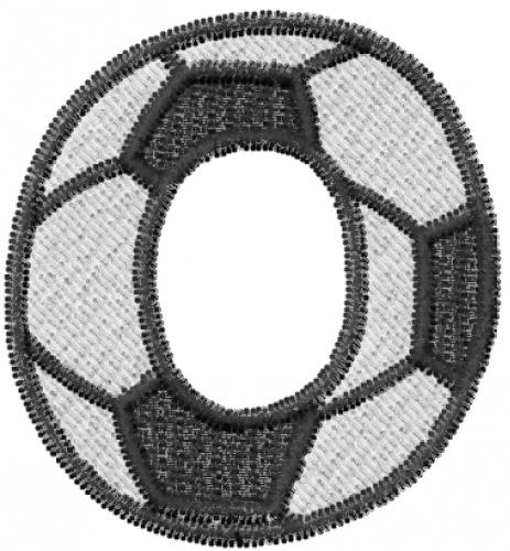 Soccerball Letter O Embroidery Design | AnnTheGran