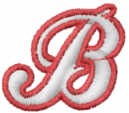 baseball outline letter b embroidery design
