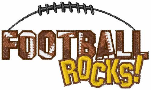 Football Rocks Embroidery Design Annthegran