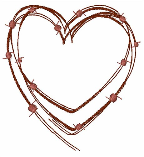 Barbed Wire Heart Embroidery Design | AnnTheGran