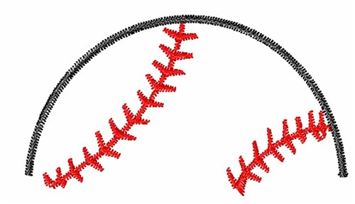 Half Baseball Embroidery Design Annthegran