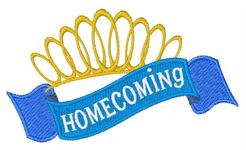 Homecoming Crown Ribbon Embroidery Design | AnnTheGran