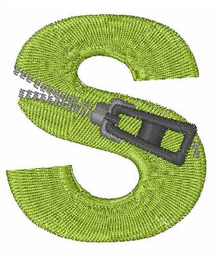 Zipper Font S Embroidery Design