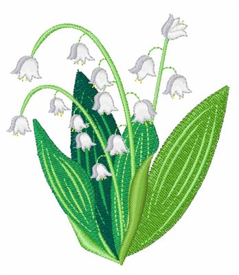 Lily Of The Valley Embroidery Design Annthegran