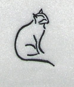 Black Cat Outline Embroidery Design Annthegran